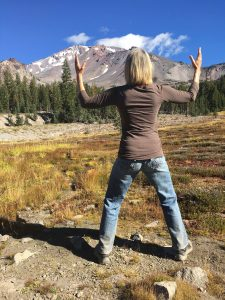 Deborah Davis at Mt Shasta